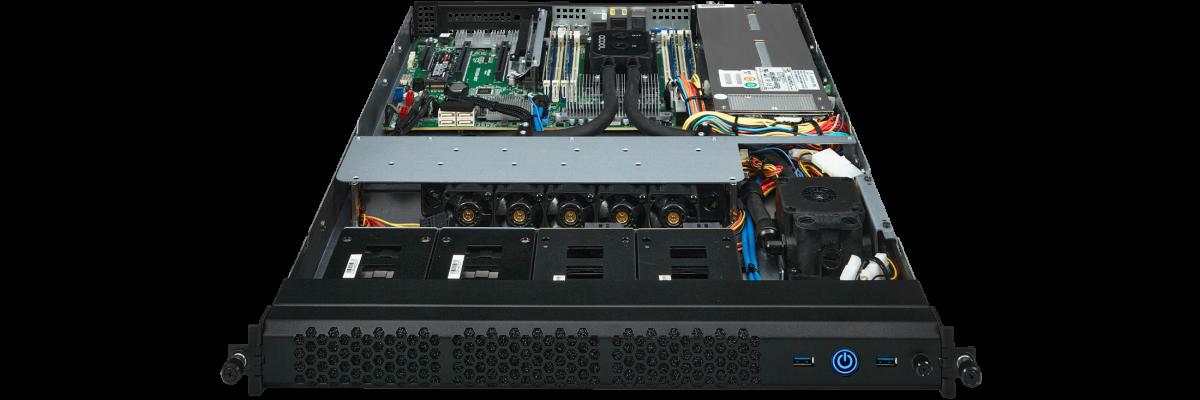 1U PC mit Wasserkühlung für AMD Threadripper CPUs