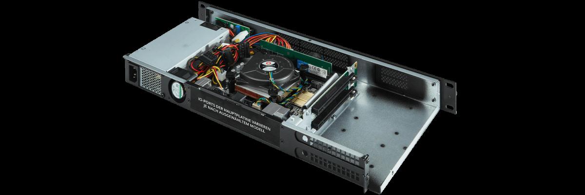 1U Dual PCIe slots